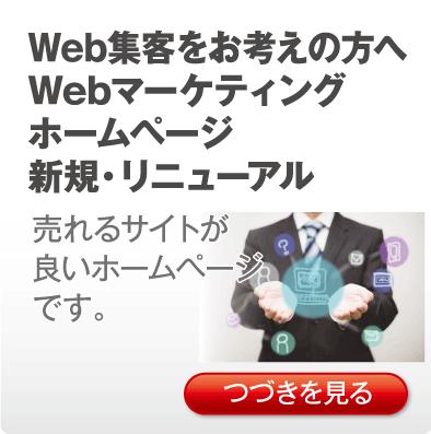 Web集客をお考えの方へWebマーケティングホームページ新規・リニューアル「売れるサイトが良いホームページです。」